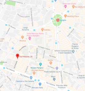 Mappa Studio Dott.ssa Rosanna Bocchino